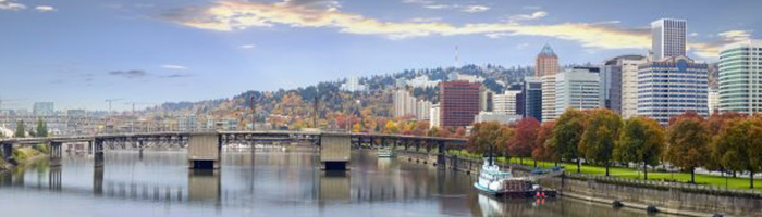 Portland Roofing Contractors by Executive Roof Services. Image of Downtown Portland, Oregon.
