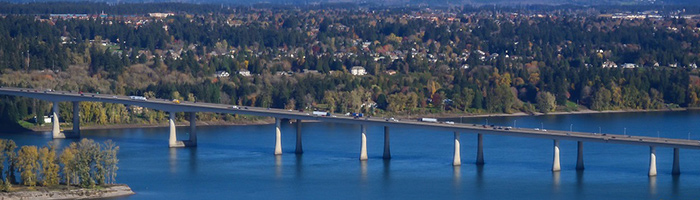 Vancouver, WA Roofing Contractors by Executive Roof Services. Image of I-205 Bridge in Vancouver WA, Washington.