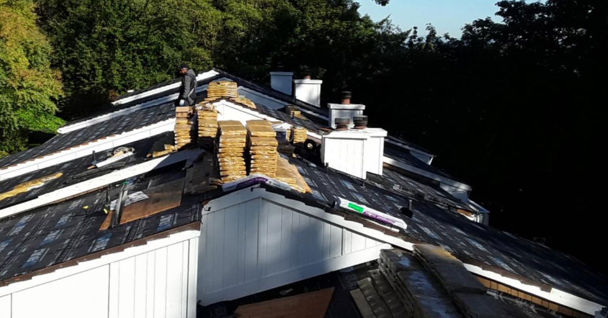 Roof Replacement on a multi-family roofing complex in Vancouver WA